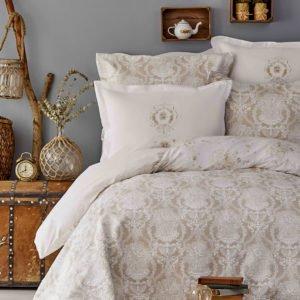 купить Постельное белье Karaca Home ранфорс Quatre V2 gold 2019-1 Бежевый фото