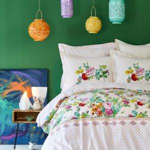 купить Постельное белье Karaca Home Irini fusya 2019-2 пике Розовый фото