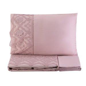 купить Постельное белье Karaca Home Privat Odelia pudra 2020-1 Розовый фото