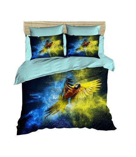 купить Постельное белье Lighthouse Ranforce 3D Gold And Blue Синий фото