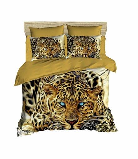 купить Постельное белье Lighthouse Ranforce 3D Leopard Коричневый фото
