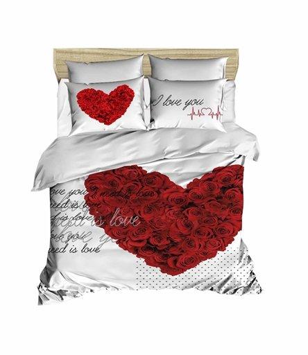 купить Постельное белье Lighthouse Ranforce 3D Love You Красный фото