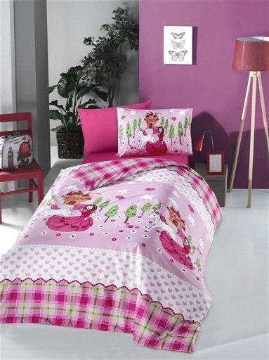 купить Постельное белье Lighthouse Ranforce Lora Розовый фото
