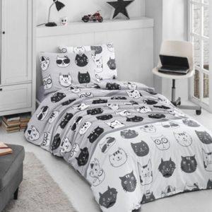 купить Постельное белье Lighthouse Ranforce Lovely Cats Серый фото