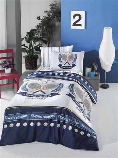 купить Постельное белье Lighthouse Ranforce Tennis Синий фото