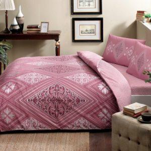 купить Постельное белье TAC ранфорс Silvia gulkurusu v01 Розовый фото