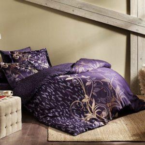купить Постельное белье TAC сатин Delux Alita mor v03 Фиолетовый фото