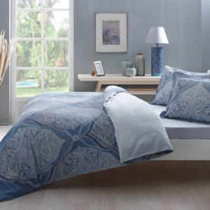 купить Постельное белье TAC сатин Yasmin turkuaz v01 Голубой фото