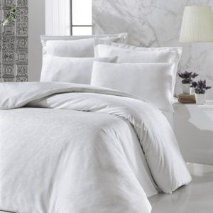 купить Постельное белье Victoria Deluxe Jacquard Sateen Valeria Белый Белый фото
