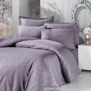 купить Постельное белье Victoria Deluxe Jacquard Sateen Valeria Серый|Фиолетовый Серый|Фиолетовый фото