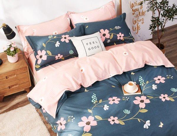 купить Постельное белье La Scala сатин Y230-879 Синий|Розовый фото