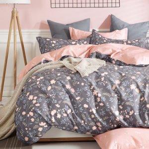 купить Постельное белье La Scala сатин Y230-900 Серый|Розовый фото