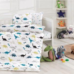 купить Детское постельное белье Class Dinozor Голубой фото