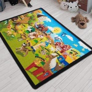 купить Коврик в детскую комнату Confetti Ali Baba Yesil 100x150 Зеленый фото