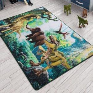 купить Коврик в детскую комнату Confetti Dinosaur Yesil 100x150 Зеленый фото