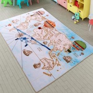 купить Коврик в детскую комнату Confetti Discover A. Mavi 100x150 Синий фото
