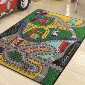купить Коврик в детскую комнату Confetti Freeway Yesil 100x150 Зеленый фото