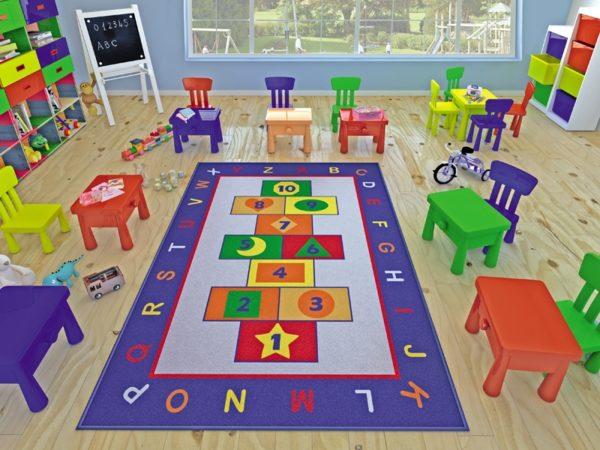 купить Коврик в детскую комнату Confetti Game Mavi 100x150 Синий фото