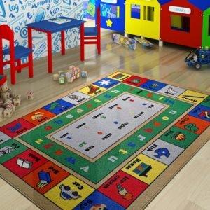 купить Коврик в детскую комнату Confetti Lesson Mavi 100x150 Зеленый фото