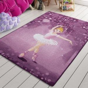 купить Коврик в детскую комнату Confetti Little Ballerina Pembe 100x150 Фиолетовый фото