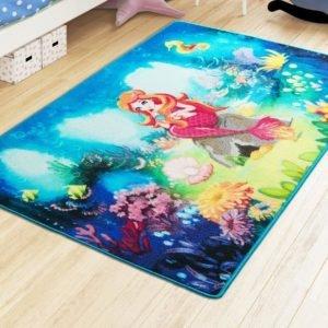 купить Коврик в детскую комнату Confetti Mermaid Mavi 100x150 Синий фото