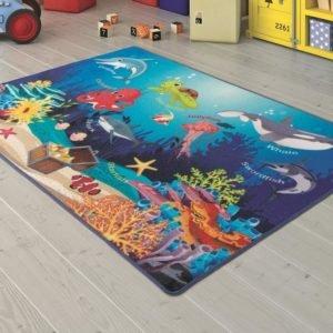 купить Коврик в детскую комнату Confetti Ocenarium Mavi 100x150 Синий фото
