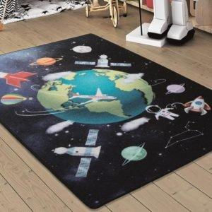 купить Коврик в детскую комнату Confetti Outer Space Lacivert 100x150 Черный фото