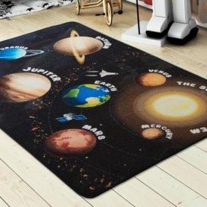 купить Коврик в детскую комнату Confetti Planets Siyah 100x150 Черный фото