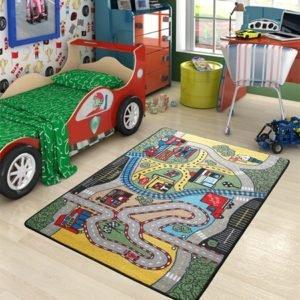 купить Коврик в детскую комнату Confetti Race Yesil 100x150 Зеленый фото