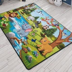 купить Коврик в детскую комнату Confetti Springtime Yesil 100x150 Зеленый фото