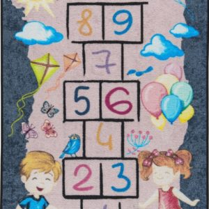 купить Коврик в детскую комнату Confetti Street Game Gri 100x150 Серый фото