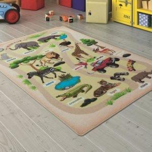 купить Коврик в детскую комнату Confetti Wild Life Bej 100x150 Бежевый фото