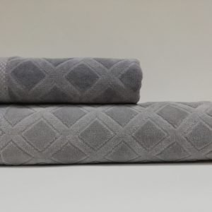 купить Набор полотенец Class Karo Grey2 Серый фото