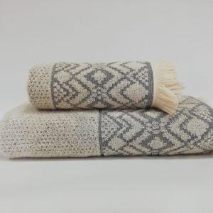 купить Набор полотенец Class Marika Antrasit Кремовый фото