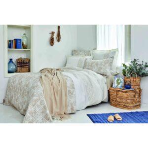 купить Постельное белье с покрывалом и пике Karaca Home - Positano bej 2020-2 Бежевый фото