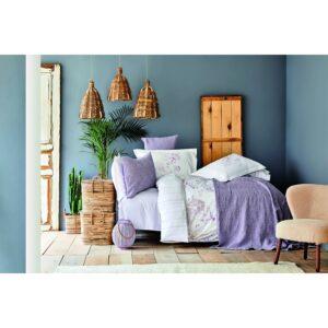 купить Постельное белье с покрывалом Karaca Home - Vial murdum 2020-2 Фиолетовый фото