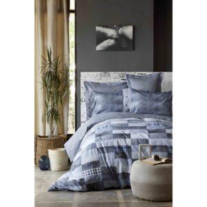 купить Постельное белье Karaca Home - Drina indigo 2019-1 kingsize Синий фото