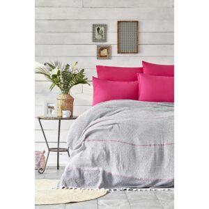 купить Постельное белье Karaca Home - Rapsody fusya 2020-2 pike jacquard Розовый фото