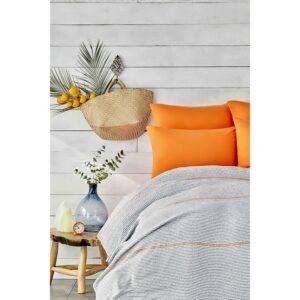 купить Постельное белье Karaca Home - Rapsody turuncu 2020-2 pike jacquard Оранжевый фото
