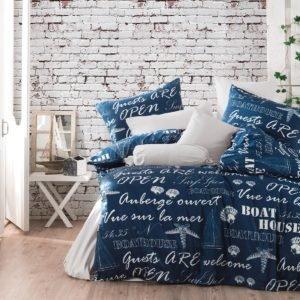 купить Постельное белье Majoli Boathouse Blue Синий фото
