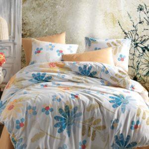 купить Постельное белье Majoli  Modern flowers v1 Mavi Голубой фото
