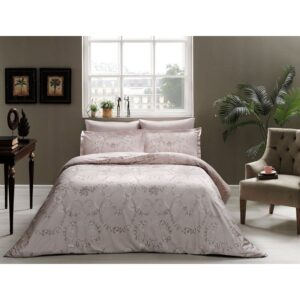 купить Постельное белье TAC сатин Delux - Dorian vizon Розовый фото