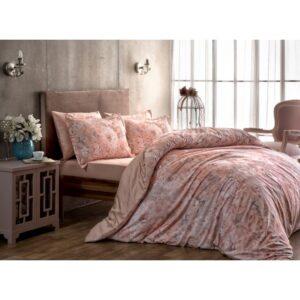 купить Постельное белье TAC сатин Digital - Blanche pembe Розовый фото