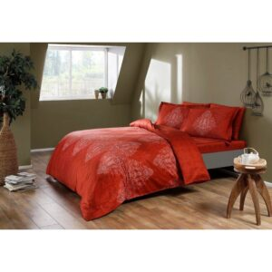 купить Постельное белье TAC сатин Digital - Caledon kirmizi Красный фото