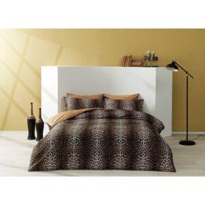 купить Постельное белье TAC сатин - Leopard kahve Коричневый фото