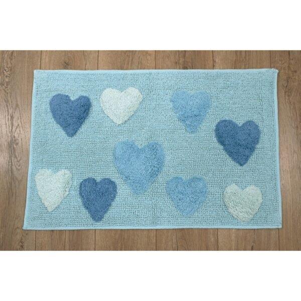 купить Коврик Irya - Hearts azzuro голубой Голубой фото