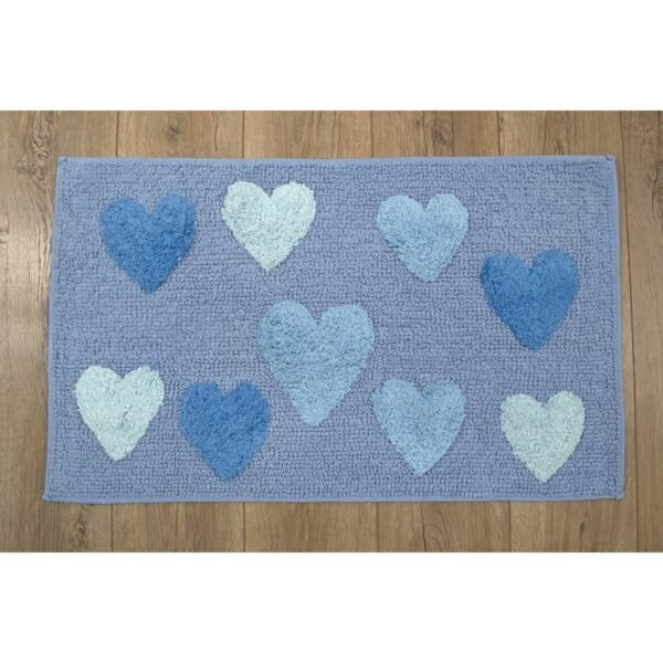 купить Коврик Irya - Hearts blue голубой Голубой фото