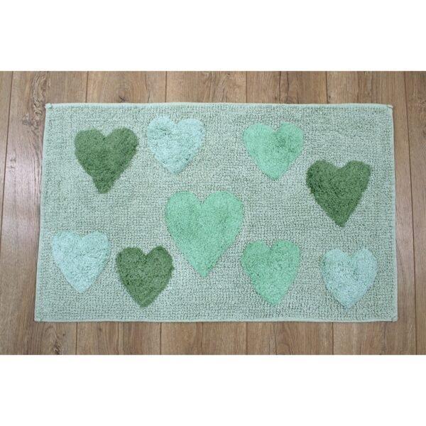 купить Коврик Irya - Hearts verde зеленый Зеленый фото