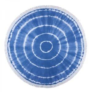 купить Круглое пляжное полотенце Barine Pestemal - Swirl Roundie Blue Голубой фото