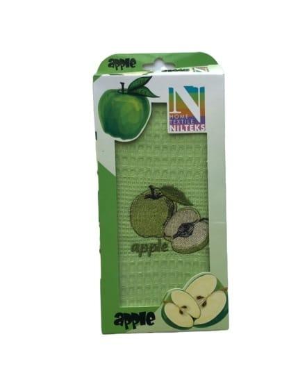 купить Кухонное полотенце Nilteks вафельное Apple 40*60 Зеленый фото